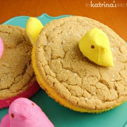 Peeps Marshmallow Sandwich Cookie Recipe | www.inkatrinaskitchen.com