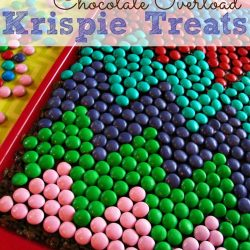 Chevron Rice Krispie Treats | www.inkatrinaskitchen.com