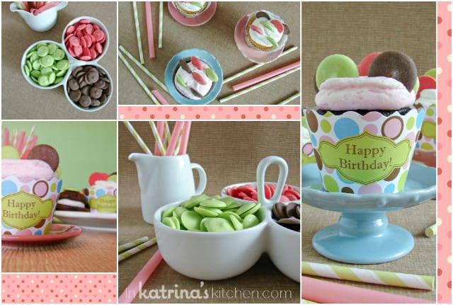 Dotty Cupcakes Tablescape | www.inkatrinaskitchen.com