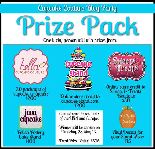 Cupcake Couture Blog Party | Win over $500 in prizes!