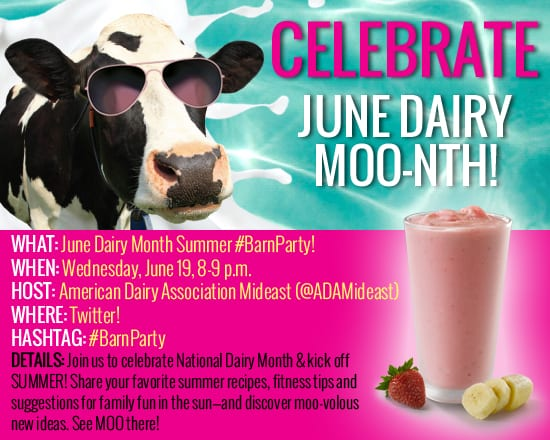 June Dairy Month Twitter party