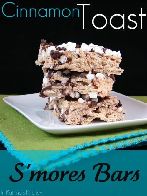 Cinnamon Toast S'mores Bars #Recipe | www.inkatrinaskitchen.com
