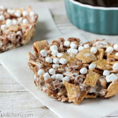 Smores Cereal Treats for Two {#recipe serves 2 people}   www.inkatrinaskitchen.com