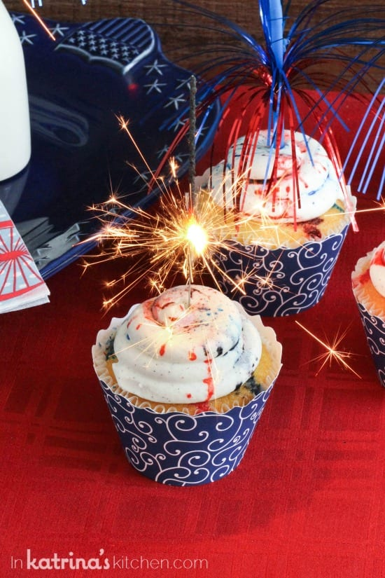 Sparkly Cupcakes with Vanilla Bean Frosting Recipe