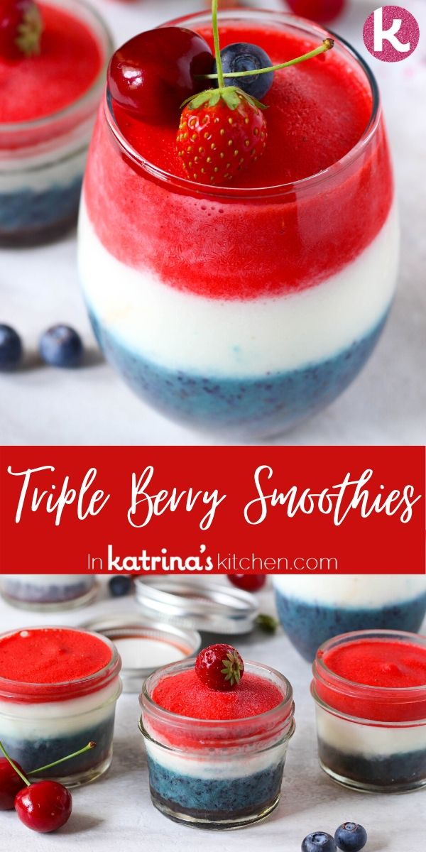 Triple Berry Smoothie Recipe Red White and Blue