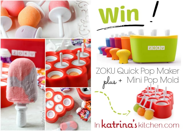 Win ZOKU Quick Pop Maker plus Mini Pop Mold www.inkatrinaskitchen.com