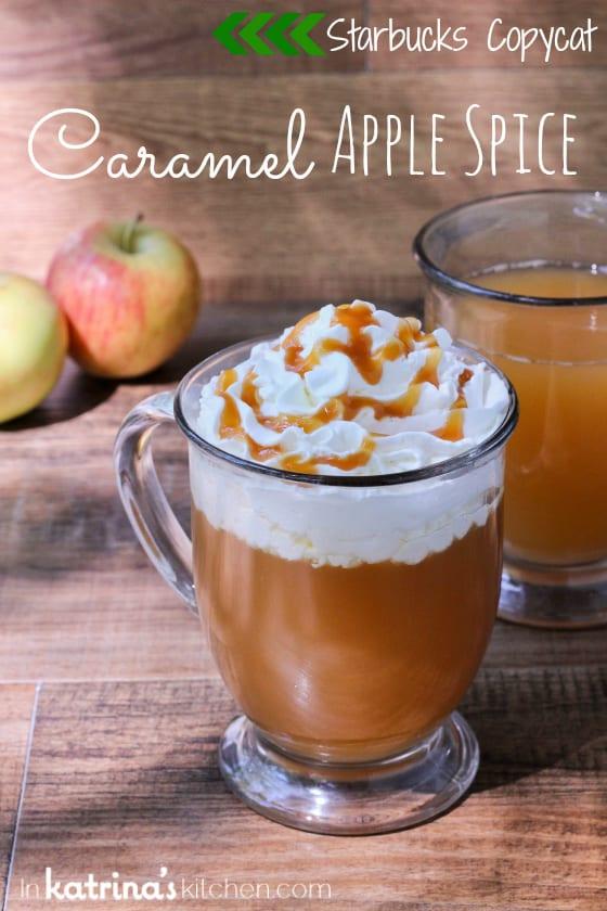 Starbucks Copycat Drink Recipe- Caramel Apple Spice www.inkatrinaskitchen.com