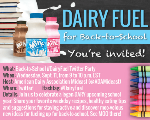 #DairyFuel Twitter Party Invite