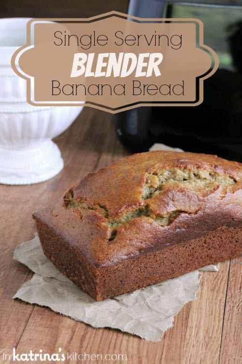 Single Serving Blender Banana Bread recipe makes 1 mini loaf or 3 muffins.