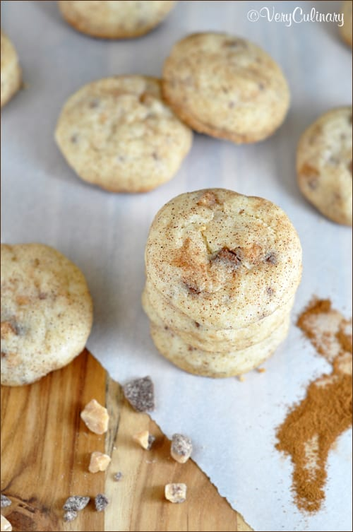 Toffee Speckled Snickerdoodles by Very Culinary #BringtheCOOKIES