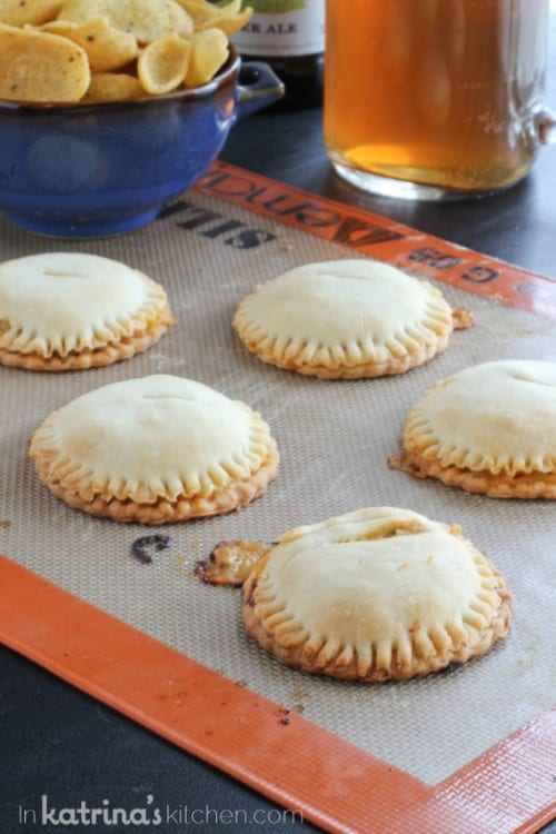 Boozy Burger and Fry Pies (and Cheddar Ale Dip) #Crisco #PerfectPies