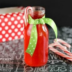 2 Ingredient Candy Cane Simple Syrup Recipe