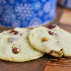 Cranberry Pistachio Cookies recipe from Amanda of Fake Ginger #BringtheCOOKIES