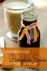 Homemade Pumpkin Spice Coffee Syrup