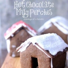 Mini Gingerbread House Hot Chocolate Mug Perches by Cravings of a Lunatic for Katrina's Kitchen