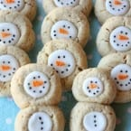 Snowman Thumbprint Cookies
