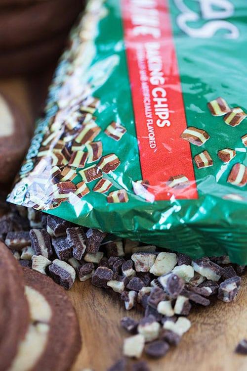Chocolate Mint Pinwheel Cookies Recipe #BringtheCOOKIES