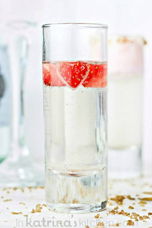 Strawberry Chantilly Cocktails - Perfect for Valentine's Day or a Girls Night In!