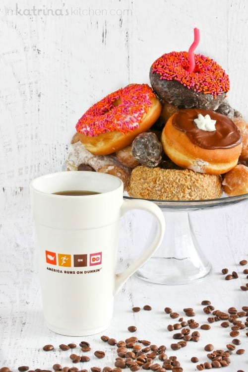 Donut Cake and a Dunkin' Donuts Giveaway