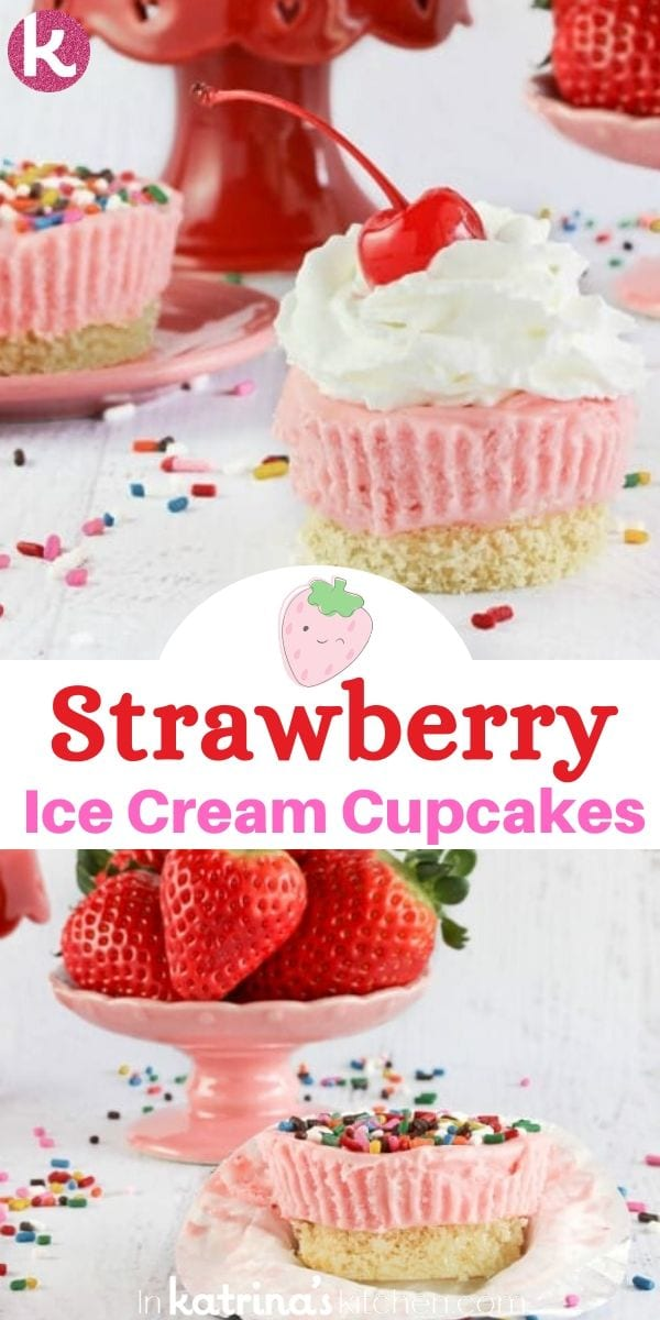 Strawberry Ice Cream Pound Cake Cupcakes Recipe
