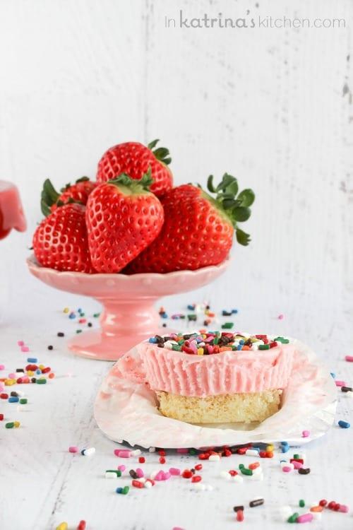 Strawberry Pound Cake Ice Cream Cups Recipe