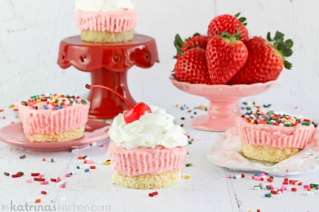 Strawberry Pound Cake Ice Cream Cups Recipe- switch up the flavors! Have fun!