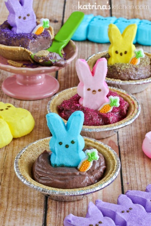 Peeps Pudding S'mores Cups Recipe- cute and easy for Easter!