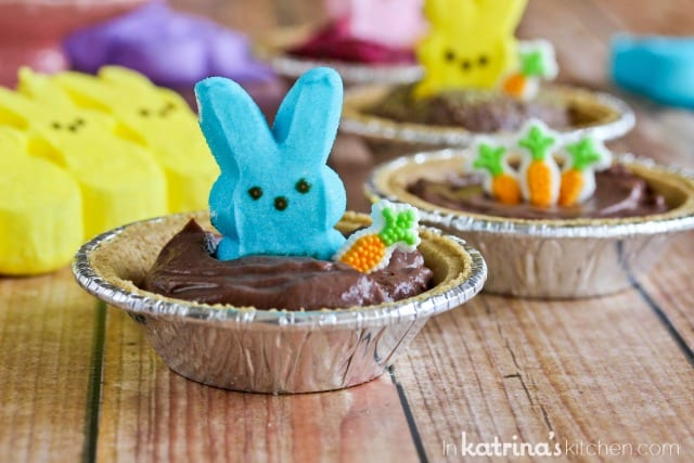 Peeps Pudding S'mores Cups Recipe- a kid-friendly Easter dessert!