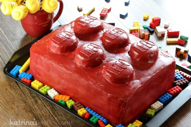 Lego Cake- easy to do at home!
