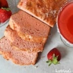 Strawberry Margarita Beer Bread Recipe- a boozy loaf of bread with a twist!