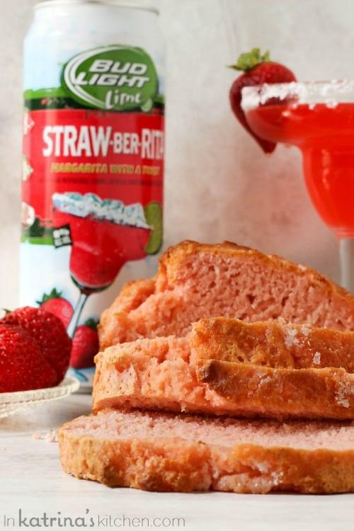 Not your ordinary beer bread- Strawberry Margarita Beer Bread Recipe
