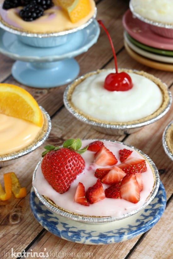 Strawberry. Orange, and Vanilla Breakfast Cream Pie Recipe- customize!