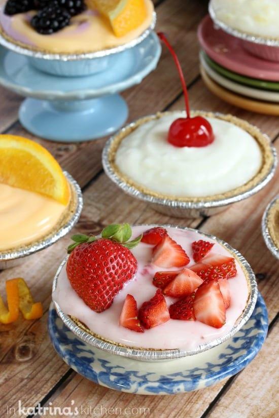 Strawberry. Orange, and Vanilla Breakfast Cream Pie Recipe- customize!