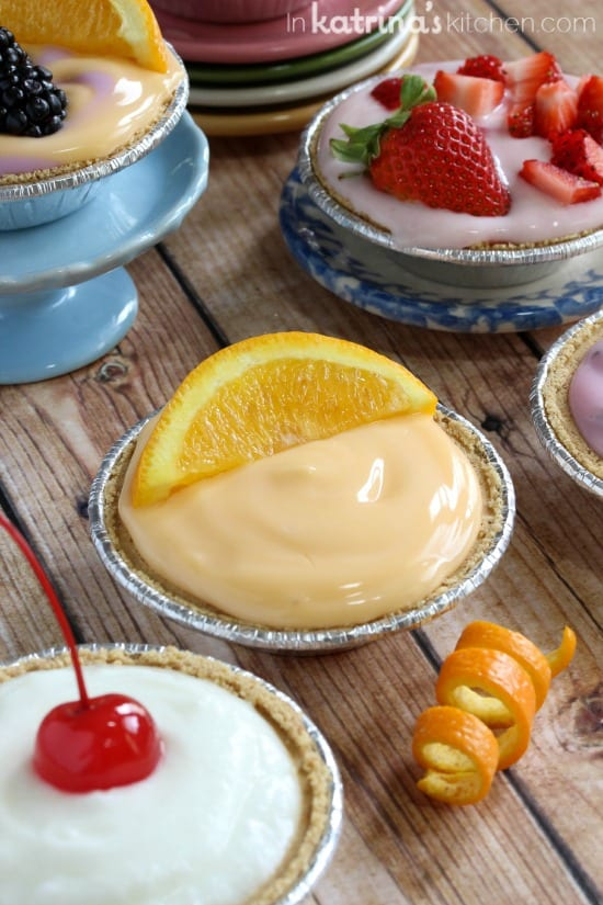 Breakfast Cream Pie Recipe- let kids choose their own toppings, mix and match!