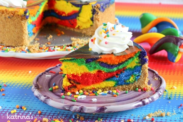 Easy Rainbow Swirl Cheesecake Recipe