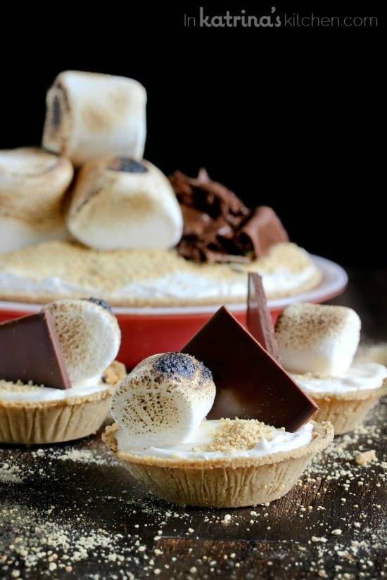 Mile High Smores Pie Recipe in mini or full size