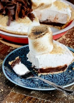 Take a bite- you deserve it! Mile High Smores Pie Recipe