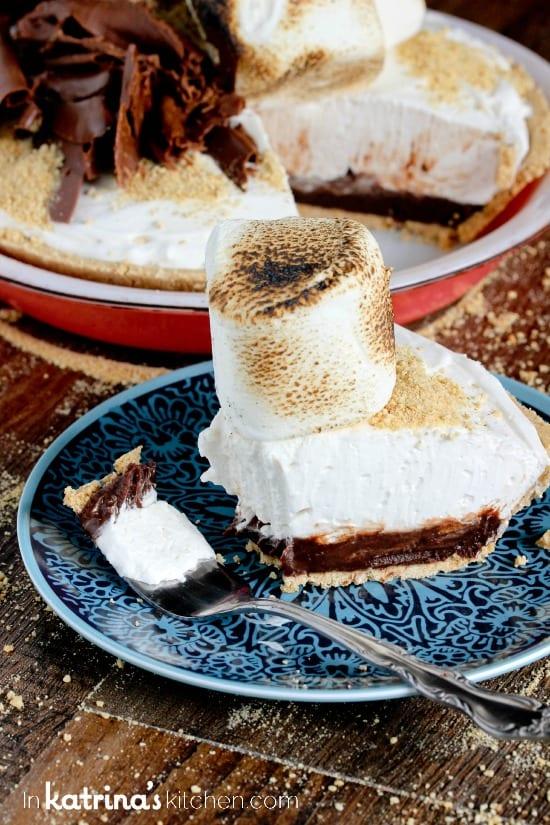 Take a bite- you deserve it! Mile High Smores Pie Recipe