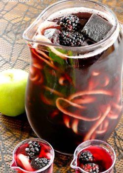 Blackberry Apple Spooky Sangria