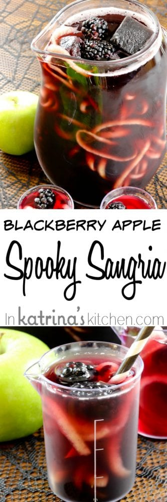 Blackberry Apple Spooky Sangria Recipe