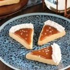 Salted Caramel Pie Slice Cookies for Thanksgiving dessert
