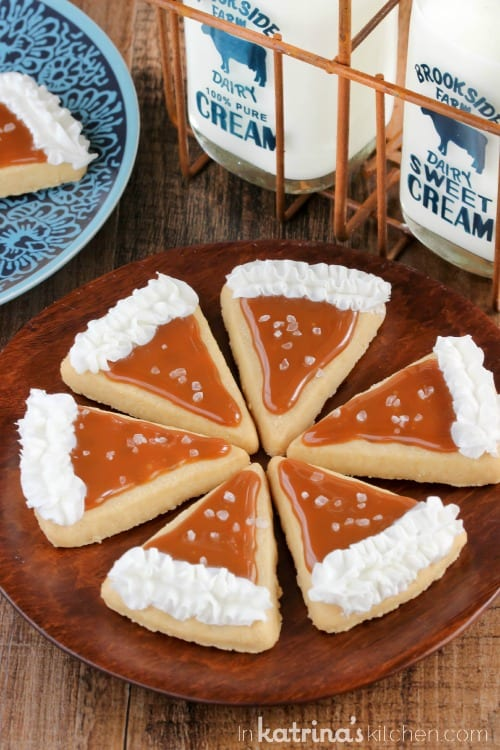 Cute for Thanksgiving! Salted Caramel Pie Slice Cookie Recipe