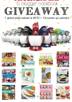 HUGE KitchenAid Stand Mixer and Blogger Cookbook Giveaway
