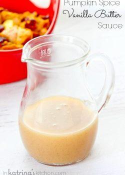 Pumpkin Spice Vanilla Butter Sauce