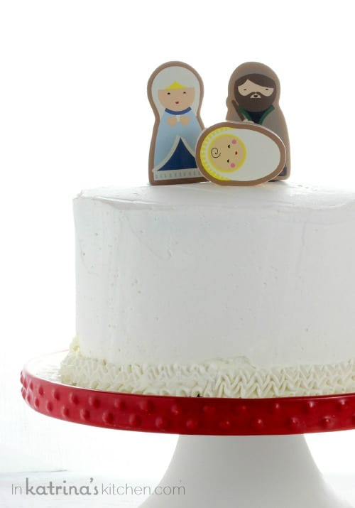 Simple Nativity Cake