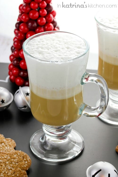 Gingerbread Steamer Recipe with frothed milk