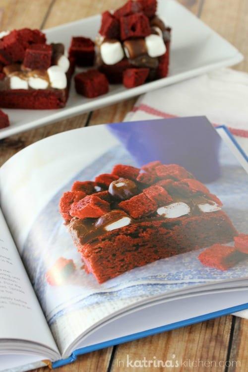 Red Velvet Rockslide Brownies- The Red Velvet Lover's Cookbook by Deborah Harroun