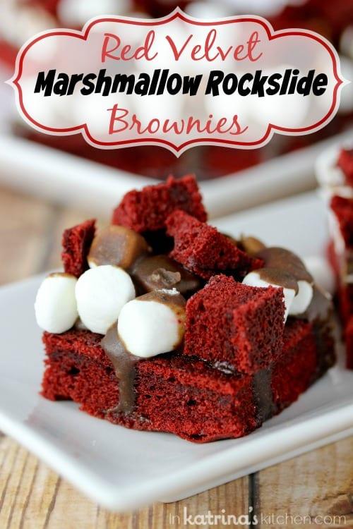 Red Velvet Marshmallow Rockslide Brownies Recipe