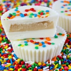 Sugar Cookie Dough Cups with Sprinkles Recipe