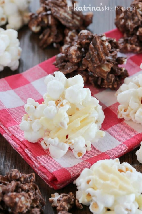 White Chocolate Covered Potato Chip Popcorn Recipe